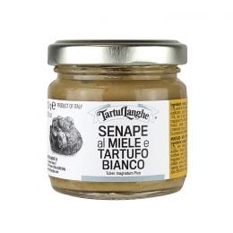 Senf mit Honig und Weißen Trüffel 100g TartufLanghe Piemont
